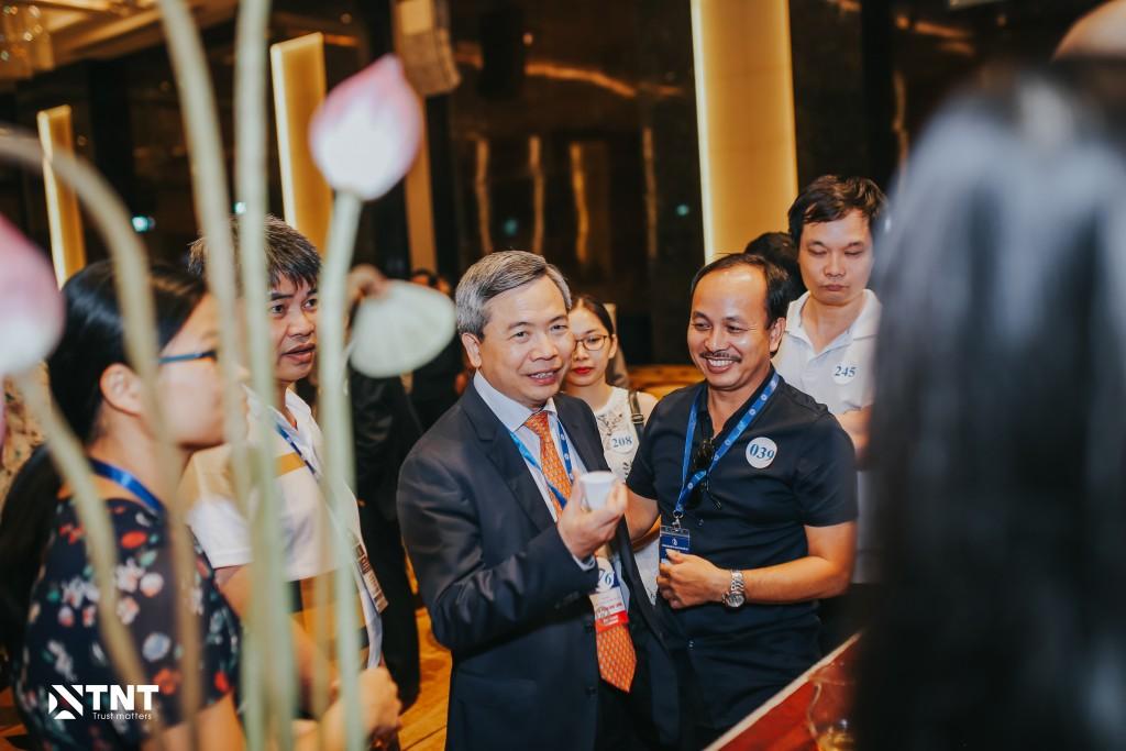 GS.TS Phạm Minh Thông - Chủ tịch Hội Điện quang và YHHN Việt Nam tại buổi tiệc